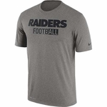 Oakland Raiders Nike All Football Legend Grey Tee
