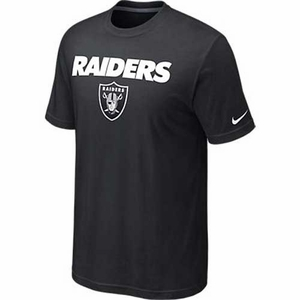 Oakland Raiders Nike Base Authentic Black Logo - Click to enlarge