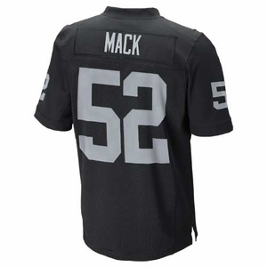 Oakland Raiders Nike Khalil Mack Black Elite Jersey - Click to enlarge