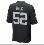 Oakland Raiders Nike Khalil Mack Black Game Jersey
