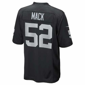 Oakland Raiders Nike Khalil Mack Black Game Jersey - Click to enlarge
