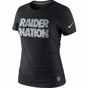Oakland Raiders Nike Black Raider Nation Tee - Click to enlarge