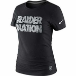 Oakland Raiders Nike Black Raider Nation Tee
