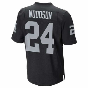 Raiders Nike Charles Woodson Black Elite Jersey - Click to enlarge