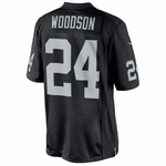 Oakland Raiders Nike Charles Woodson Black Limited Jersey