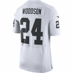 Oakland Raiders Nike Charles Woodson Elite White Jersey
