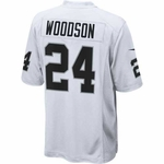 Oakland Raiders Nike Charles Woodson White Game Jersey