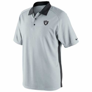Oakland Raiders Nike Coaches 2 Polo Grey - Click to enlarge