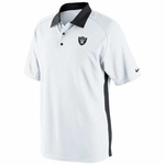 Oakland Raiders Nike Coaches 2 Polo White