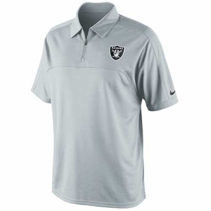 Oakland Raiders Nike Conference Polo Grey - Click to enlarge