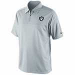 Oakland Raiders Nike Conference Polo Grey