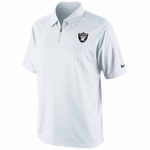 Oakland Raiders Nike Conference Polo White