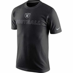 Oakland Raiders Nike Cotton Training Day Black Tee