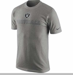 Oakland Raiders Nike Cotton Training Day Grey Tee