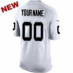 Oakland Raiders Nike Custom Limited White Jersey
