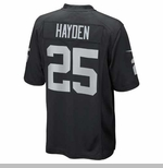 Oakland Raiders Nike D.J. Hayden Black Game Jersey