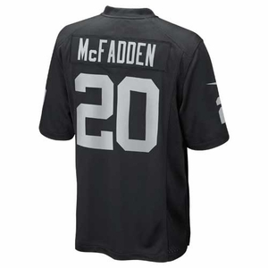 Oakland Raiders Nike Darren McFadden Black Game Jersey - Click to enlarge