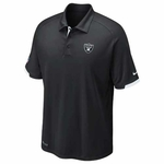 Oakland Raiders Nike Dri Fit Practice Black Polo