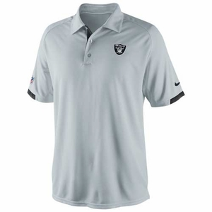 Oakland Raiders Nike Dri-Fit Practice Polo Grey - Click to enlarge