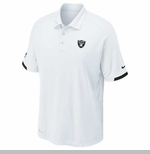 Oakland Raiders Nike Dri Fit Practice White Polo