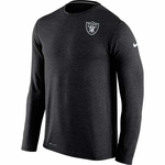 Oakland Raiders Nike Dri Fit Touch Black Long Sleeve Tee
