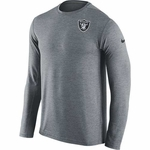 Oakland Raiders Nike Dri Fit Touch Grey Long Sleeve Tee
