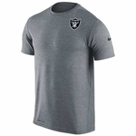 Oakland Raiders Nike Dri Fit Touch Grey Short Sleeve Tee