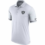 Oakland Raiders Nike Early Season White Polo
