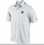 Oakland Raiders Nike Elite Coaches White Polo