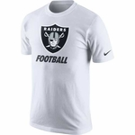 Oakland Raiders Nike Facility White Tee