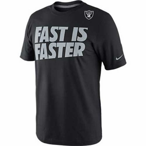 Oakland Raiders Nike Fast is Faster Tee - Click to enlarge