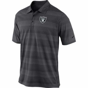 Oakland Raiders Nike Football Preseason Polo Steel - Click to enlarge