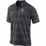 Oakland Raiders Nike Football Preseason Polo Steel