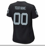 Oakland Raiders Nike Girls Custom Black Game Jersey