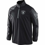 Oakland Raiders Nike Hybrid 1/2 Zip Top