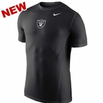 Oakland Raiders Nike Hypercool Fitted Short Sleeve Top