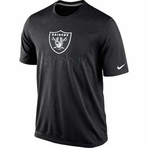 Oakland Raiders Nike Just Do It Black Tee - Click to enlarge