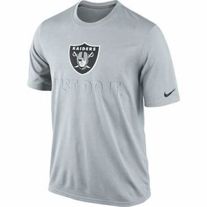 Oakland Raiders Nike Just Do It Grey Tee - Click to enlarge