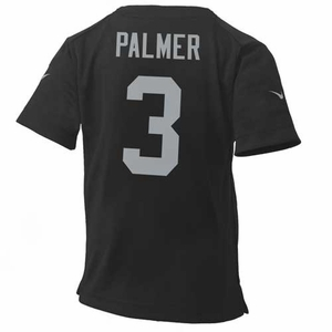 Oakland Raiders Nike Juvenile Carson Palmer Black Game Jersey - Click to enlarge