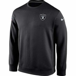 Oakland Raiders Nike KO Chain Fleece Crew