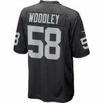 Oakland Raiders Nike Lamar Woodley Black Game Jersey