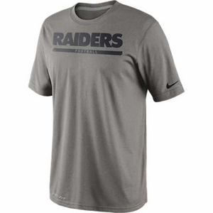 Oakland Raiders Nike Legend Elite Font Tee Grey - Click to enlarge