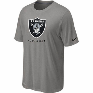 Oakland Raiders Nike Legend Elite Logo Tee Grey - Click to enlarge