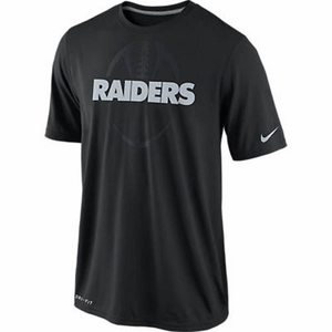 Oakland Raiders Nike Legend Football Icon Black Tee - Click to enlarge