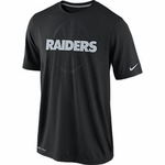 Oakland Raiders Nike Legend Football Icon Black Tee