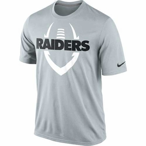 Oakland Raiders Nike Legend Icon Grey Tee - Click to enlarge