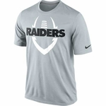 Oakland Raiders Nike Legend Icon Grey Tee