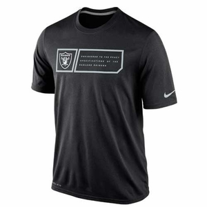 Oakland Raiders Nike Legend Jock Tag Black Tee - Click to enlarge