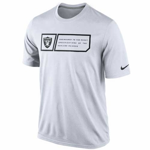 Oakland Raiders Nike Legend Jock Tag White Tee - Click to enlarge