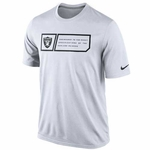 Oakland Raiders Nike Legend Jock Tag White Tee